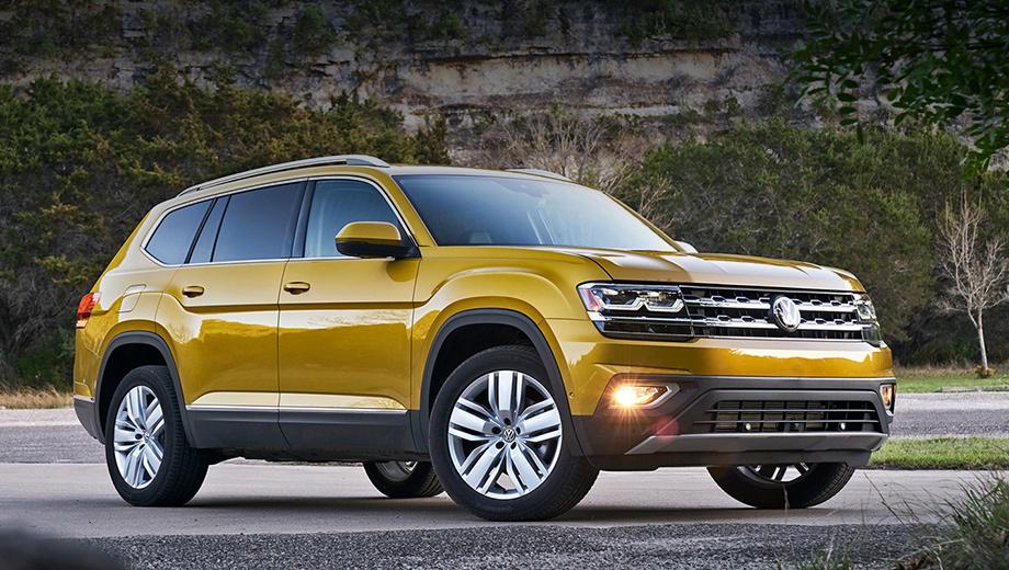Volkswagen teramont. В Китае, где модель тоже называется Teramont, она продаётся второй год. Её показатели не слишком-то впечатляют: за 2017-й реализовано 75 114 машин. В Штатах кроссовер зовётся Atlas и присутствует на рынке с мая. Ежемесячный спрос колеблется на уровне около 4500 штук.