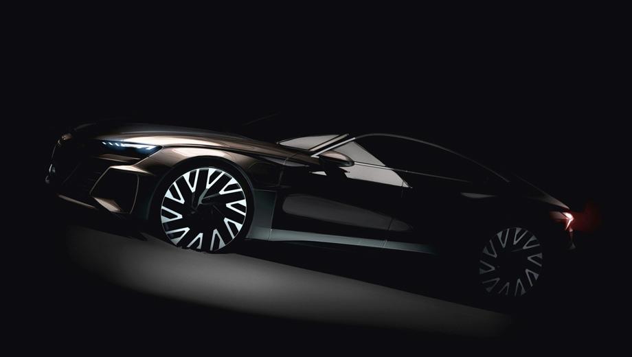 Audi e-tron. Машина на тизере в общих чертах напоминает A7, однако на деле основа тут иная.