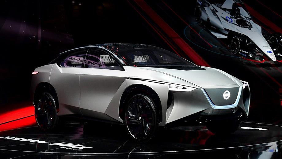 Nissan imx kuro. Шоу-кар IMx  был впервые представлен в Токио осенью прошлого года, а сейчас в Женеве демонстрируется доработанная версия с приставкой Kuro («чёрная»). Изменены решётка и дизайн колёс. Белый цвет кузова уступил место серому. Появились и другие новшества.