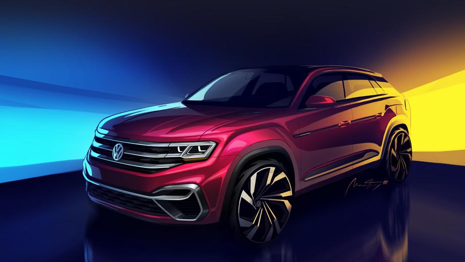 Volkswagen atlas,Volkswagen teramont,Volkswagen concept. Об Атласе тут напоминают разве что колёсные арки и капот. Фары, решётка радиатора и бампер новые, перекроены остекление и задняя стойка, и даже подштамповки на дверях иные.