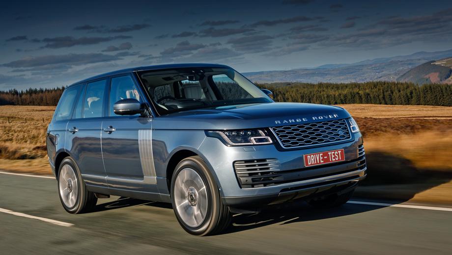 Land rover range rover. Заказы на обновлённую линейку уже принимаются: от 6,87 млн рублей за версию с дизелем V6 (249 л.с.). За TDV8 (339 л.с.) просят минимум 7,93 млн, за машину с бензиновой «восьмёркой» — от 8,82 млн за 525 сил и от 11,69 млн за 565. Гибрид обойдётся минимум в 8,35 млн.