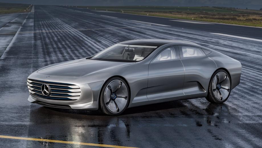 Mercedes eqs. Вряд ли EQS будет выглядеть столь же необычно, как концепт IAA 2015 года, но наверняка очень обтекаемый кузов с купеобразным профилем мы увидим.