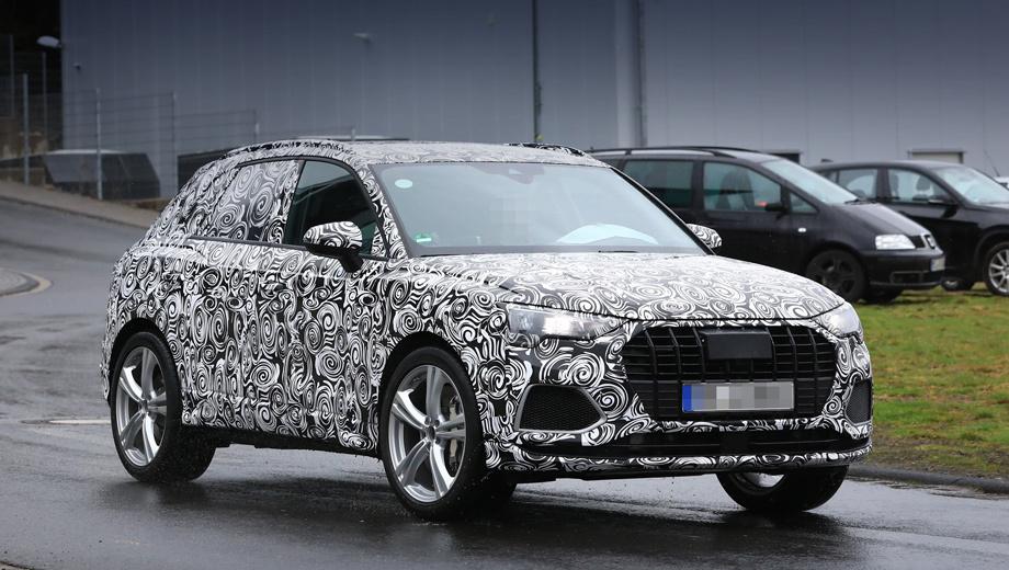 Audi q3,Audi sq3. Ожидается, что SQ3 поступит в продажу в течение года после запуска стандартного паркетника, а новый RS Q3 подтянется ещё позже.