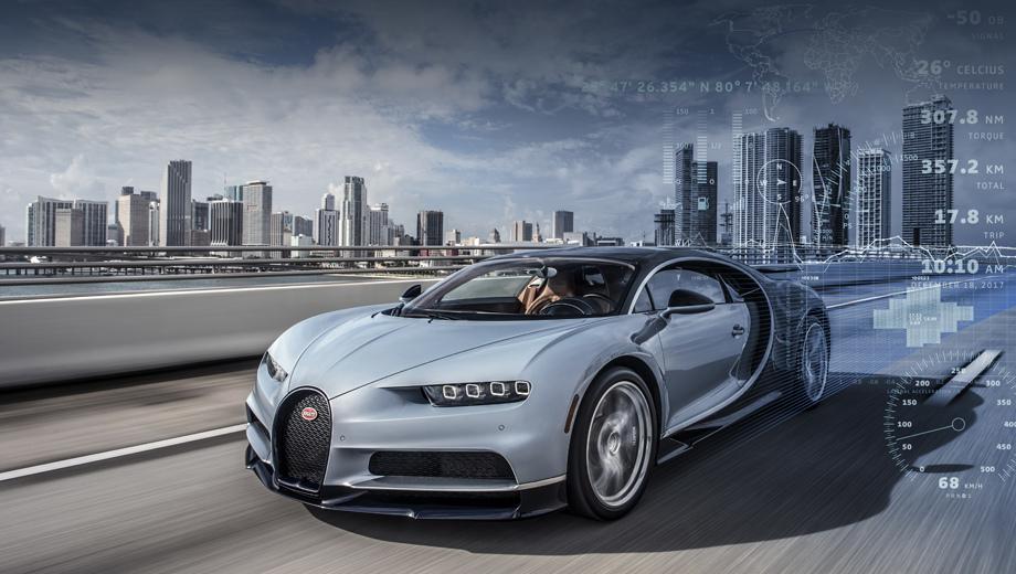 Купе Bugatti Chiron похвалилось необычным комплексом телеметрии