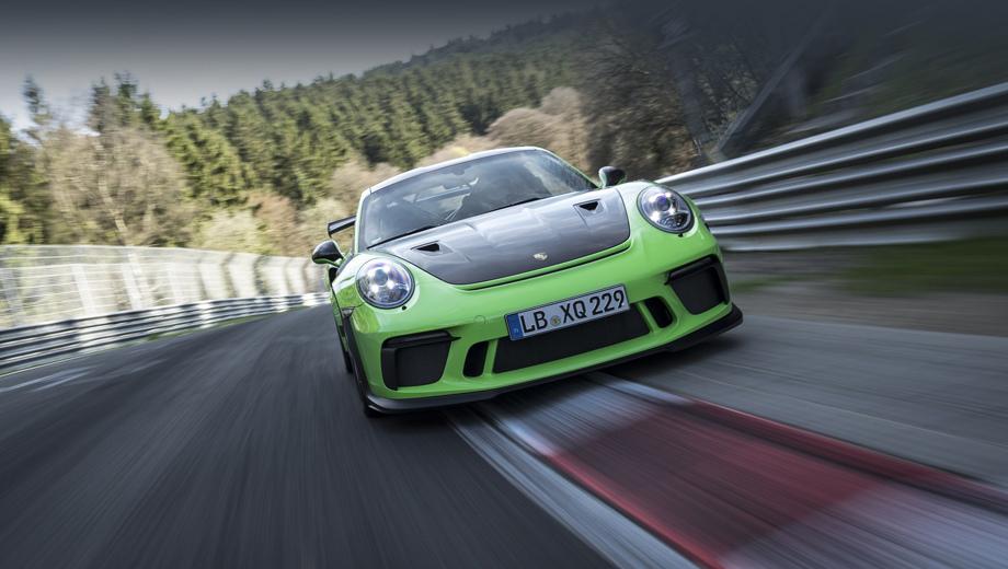 Новый Порш 911 GT3 RSпроехал по«Нордшляйфе» скорее 7-ми минут