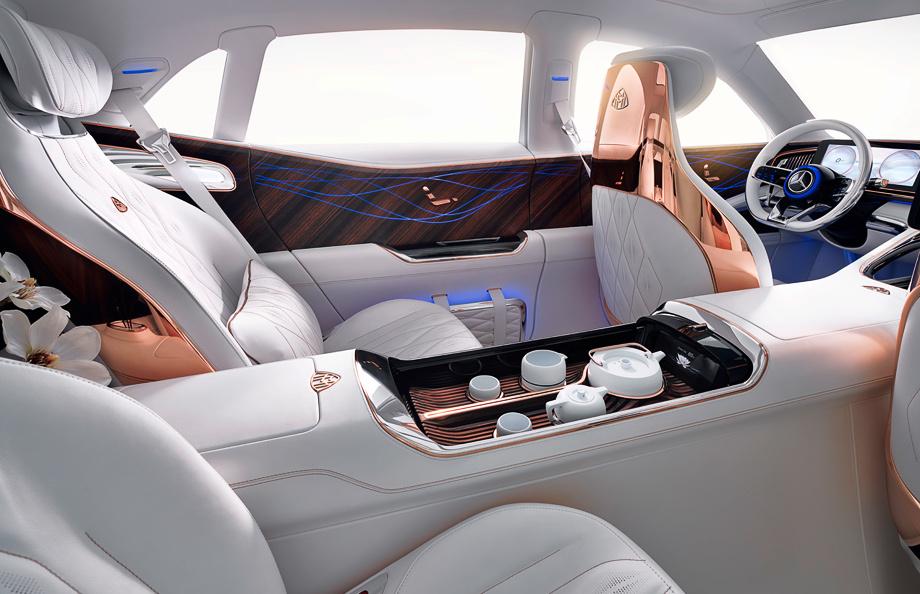 Седан Mercedes-Maybach Ultimate Luxury раскрылся до конца