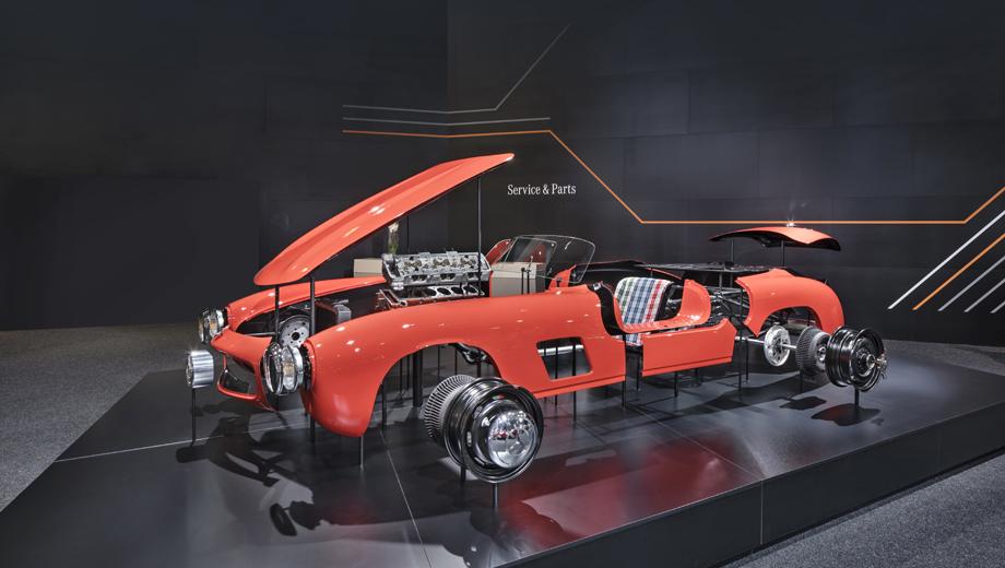 Mercedes sl,Mercedes 300 sl. С 1954-го по 1957 год было построено 1400 купе W198. (Плюс с 1957-го по 1963-й 1858 аналогичных родстеров W198 II.) В 1999 году модель получила титул Sports Car of the Century.