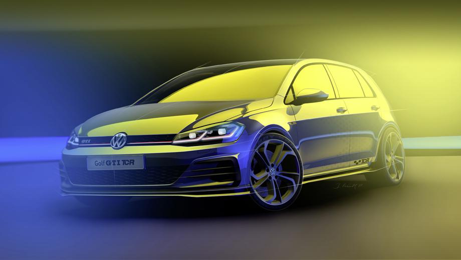 Появился тизер гоночного хэтчбека Volkswagen Golf GTI TCR