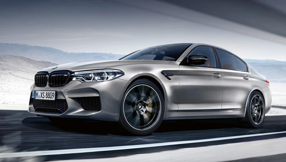 Bmw m5,Bmw m5 competiiton. Разгон с места до 200 км  ч занимает 10,8 с что на 0,3 с меньше чем у обычной M5. Выделить BMW M5 Competition в отдельную модель немцев подтол