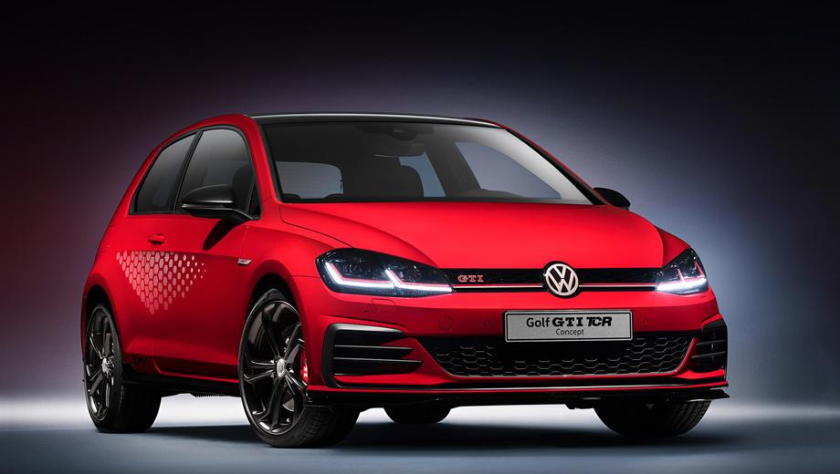 Volkswagen golf gti,Volkswagen golf gti tcr,Volkswagen golf. Дорожный вариант гоночного Гольфа GTI TCR оснащён двумя дополнительными радиаторами для охлаждения двигателя. Милая деталь: при открытии дверей логотип TCR проецируется на асфальт. Тираж и цены ещё не объявлены.