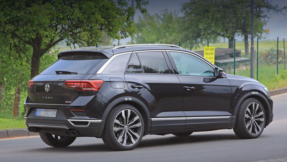 «Заряженный» Volkswagen T-Roc Rтестируют вНюрбургринге