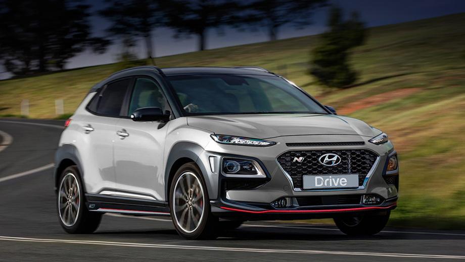 Hyundai kona,Hyundai kona n. Пятидверка Hyundai Kona N встанет на конвейер до 2020 года. У неё не будет опционального пакета Performance, как на хэтчах i30 N и Veloster N. Также неизвестно, снабдят ли переднюю ось электронноуправляемой блокировкой дифференциала.