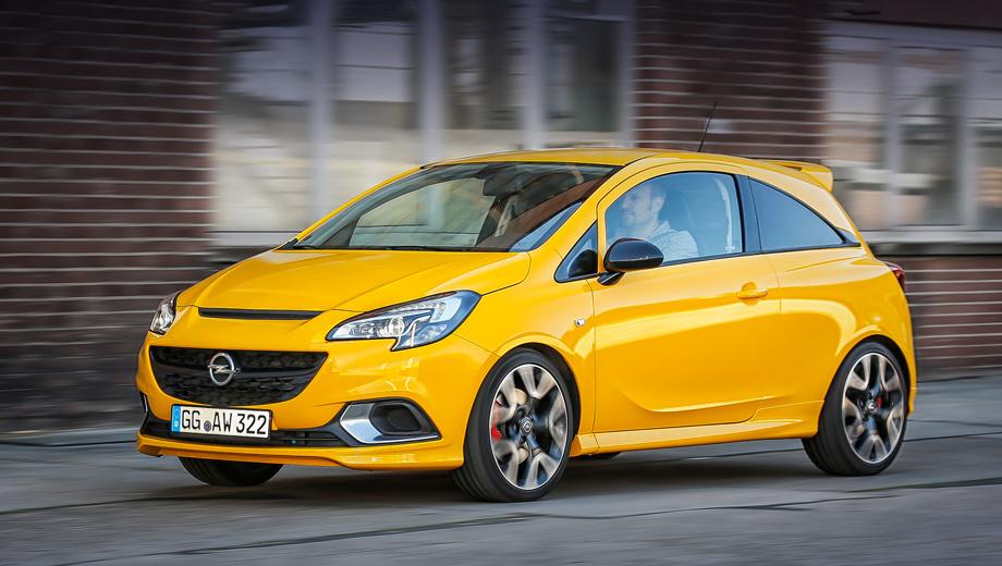 Opel corsa,Opel corsa gsi. Отличить «подогретую» Корсу внешне помогают воздухозаборники вместо противотуманок в переднем бампере, вентилируемый капот, хромированная планка под логотипом, тормоза с красными суппортами и 18-дюймовые легкосплавные диски особого дизайна.