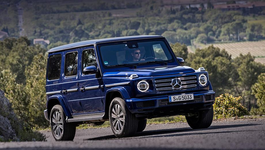 Mercedes g. Динамические характеристики версии G 350 d нового поколения пока неизвестны, но благодаря меньшей (примерно на 170 кг) снаряжённой массе ожидается явное улучшение по сравнению с предшественником. Прежний G 350 d (245 л.с., 600 Н•м) достигал 100 км/ч за 8,8 с.