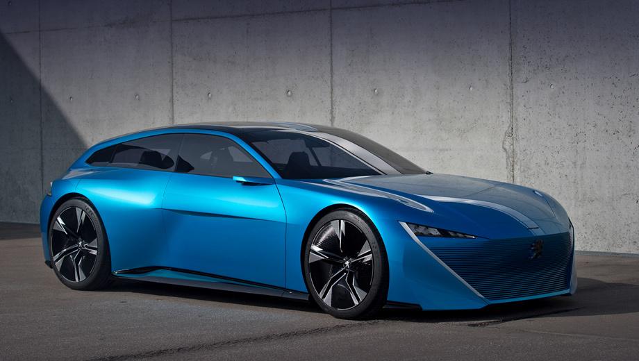 Peugeot concept. Последним концептом от Peugeot на сегодняшний день остаётся универсал Instinct, показанный на Женевском шоу в марте. Эта машина вполне консервативная: гибрид с Интернетом, автопилотом и умиротворяющей внешностью. То ли дело DS X E-Tense...