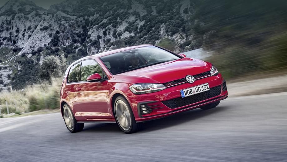 Volkswagen golf,Volkswagen golf gti. Добавка Performance, помимо прочего, означает разгон хот-хэтча с нуля до сотни за 6,2 с вместо 6,4 (с «роботом»).