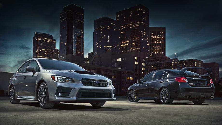 Subaru wrx sti. Продажи седанов 2019 модельного года в Штатах начнутся ближайшим летом. Автомобили немного подорожали. Так, WRX стоит $27 195 вместо $26 995, а WRX STi ― $36 595 против $36 095. С 2015-го по 2017 год в Штатах WRX и WRX STi разошлись тиражом 98 371 штука.