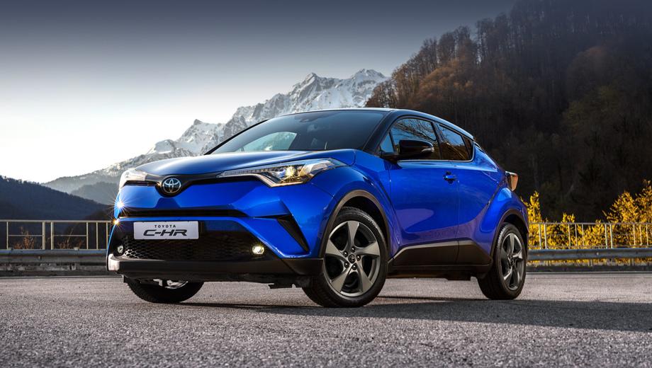 Toyota c-hr. По размерам C-HR расположен где-то между субкомпактными и компактными кроссоверами. Сама Toyota помещает C-HR