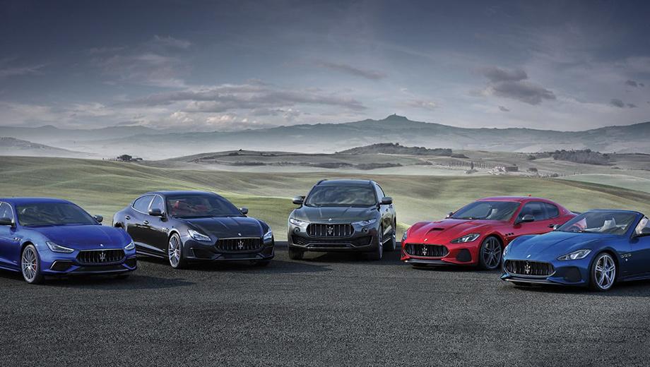 Maserati alfieri. Через четыре года каждая модель Maserati обновится или сменит поколение, кроме тех, что уйдут в отставку. «Трезубец» хвастается успехами. За период 2011–2018 гг. глобальный рост продаж составил 700% (в Китае чуть меньше 1000%).