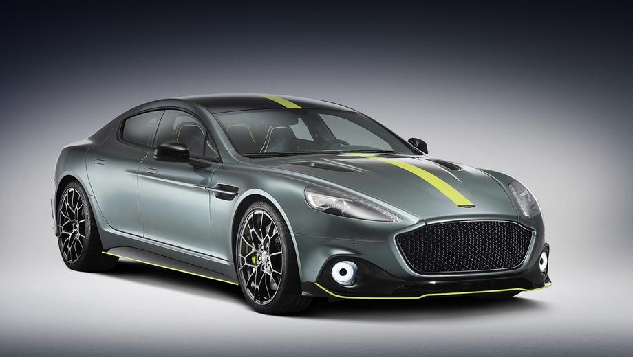 Astonmartin rapide,Astonmartin rapide amr. Жёсткая алюминиевая конструкция, внешние панели из углеволокна и «крылатого металла», дизайн вне времени… Но Aston Martin Rapide, пусть и в исполнении AMR, всё равно безнадёжно устарел. Об этом говорит и мотор V12 5.9, который создавался ещё в фордовские времена, и биксеноновые фары.