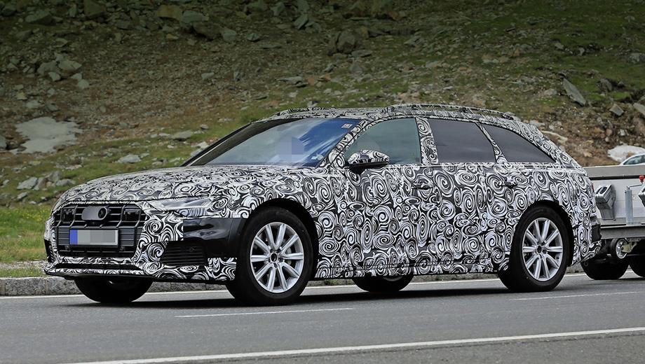 Audi a6 allroad,Audi s6,Audi rs6,Audi s7,Audi a6,Audi rs q8,Audi r8. Прототипы будущего Олроуда только вышли на дороги общего пользования. Премьера модели ожидается во второй половине 2019-го года. Предположительно, модель обзаведётся моторами 2.0 TFSI (252 л.с.), 3.0 TFSI (340 л.с.) и 3.0 TDI (218–286 л.с.).