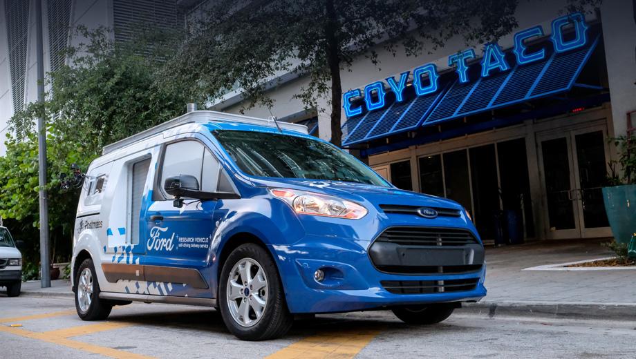 Ford transit connect. Сервис организован совместно со службой доставки Postmates, а партнёрами со стороны ресторанов стали более 70 компаний.