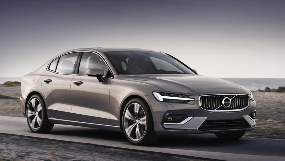 Volvo s60. Размеры машины не названы. Колёсная база известна по V60 — 2872 мм. По сравнению с предшественником в сравнимых версиях новичок должен щеголять более лёгким и жёстким кузовом, ведь он использует новую модульную платформу SPA.