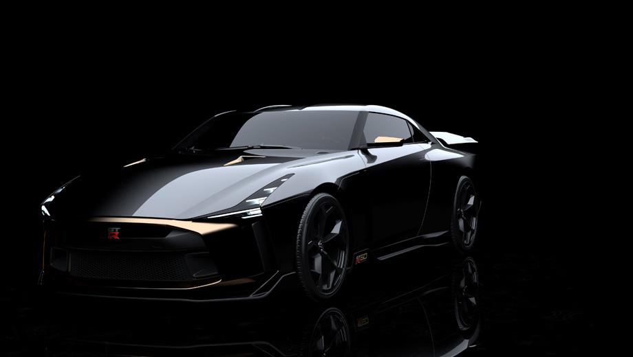 Nissan gt-r,Nissan gt-r 50. Бюро Italdesign отвечало за общий проект и изготовление машины, а вот особенности внешности и интерьера были придуманы в двух других студиях — Nissan Design Europe и Nissan Design America.