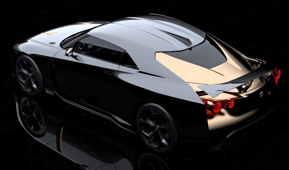 Ниссан GT-R50 празднует 50-летие: для спорткара создали неповторимый позолоченный кузов