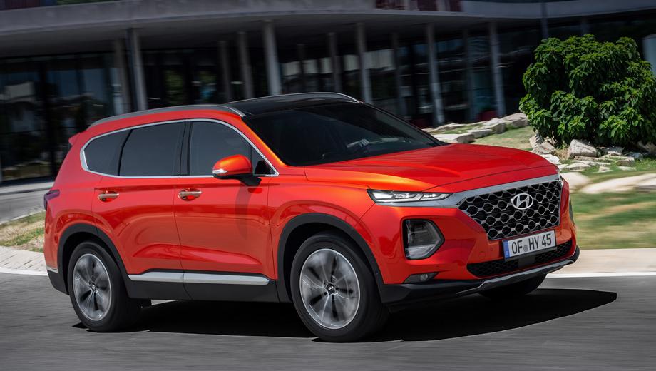 Hyundai santa fe. Российская премьера Santa Fe состоится в августе на Московском автосалоне (там же покажут обновлённый Tucson), а продажи начнутся осенью. Об этом недавно сообщил сам производитель.