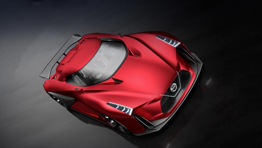 Nissan gt-r. Новое поколение «джи-ти-ара» дважды анонсировалось в 2014–2015 годах концептами Nissan 2020 Vision Gran Turismo. Первый изначально был виртуальным для видеоигры, но, как и второй (на фото), реализовался «в металле». Тем не менее силовая установка осталась тайной.
