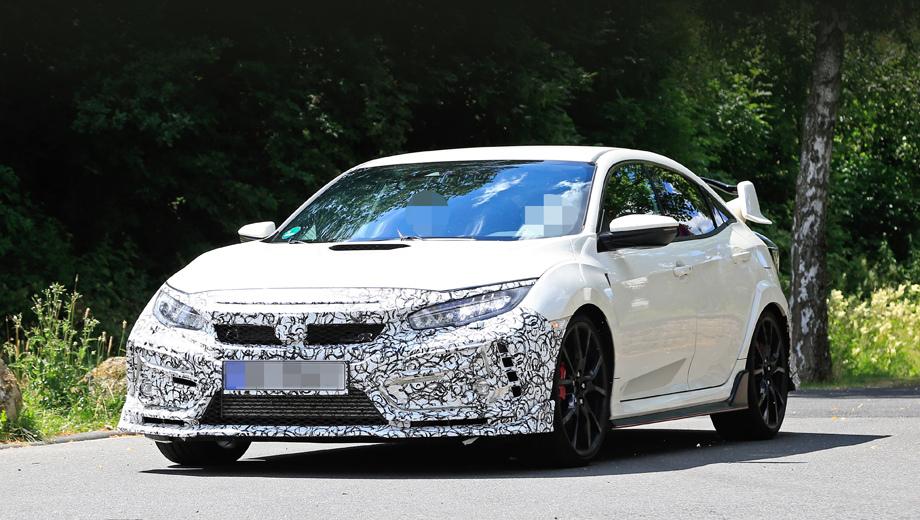 Honda civic,Honda civic type r. Тестовый прототип сфотографирован в Германии, а значит, через некоторое время мы можем увидеть его и на Нордшляйфе.