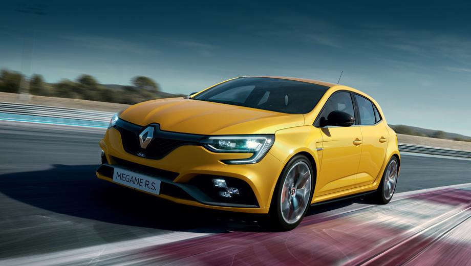 Renault megane,Renault megane rs,Renault megane rs trophy. Максималка новой «эр-эски» составляет 260 км/ч, на пять выше, чем у исходника. Расход топлива в комбинированном цикле NEDC составляет 8,1 л/100 км, а выхлоп соответствует нормам Euro6d-Temp, которые будут обязательны в Европе с сентября.