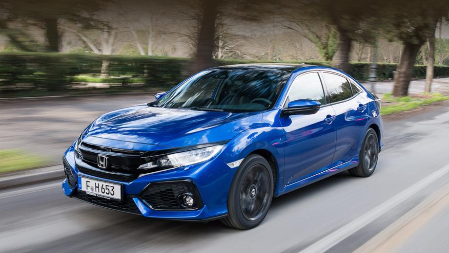 Honda civic. Модель Civic с новой силовой установкой отличается низкими выбросами углекислого газа: 108 г/км с кузовом седан и 109 г/км в случае хэтчбека.