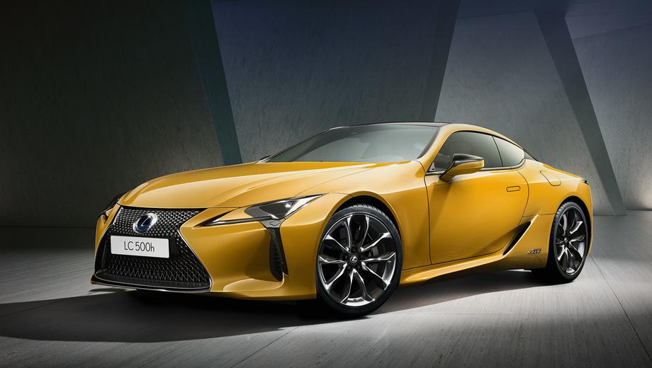 Lexus lc. Lexus LC Yellow Edition можно будет заказать как с 477-сильным мотором V8 5.0 и десятиступенчатым «автоматом» (версия LC 500), так и с бензоэлектрической силовой установкой мощностью 359 л.с. и трансмиссией, состоящей из вариатора и четырёхдиапазонного «автомата» (LC 500h).