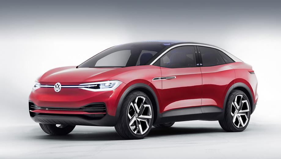 Volkswagen id,Volkswagen id crozz. В концепт I.D. Crozz уже было запряжено 306 «лошадок». Поднять отдачу ещё процентов на десять, занизить и перенастроить подвеску, немного скинуть массы — и вот уже готов «бюджетный» соперник для кроссов Audi e-tron  и Jaguar I-Pace.