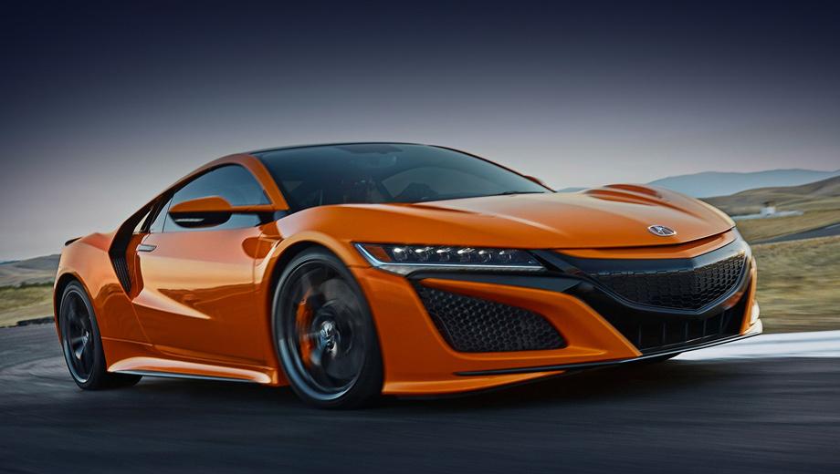Acura nsx. Новый цвет кузова Thermal Orange Pearl, как и остальные колеры для модели, назван в честь гоночной трассы. На сей раз — Thermal Raceway в Калифорнии. В тон к нему можно заказать оранжевые тормозные суппорты. «Теперь вы не потеряете свой NSX на парковке», — шутят американские коллеги.