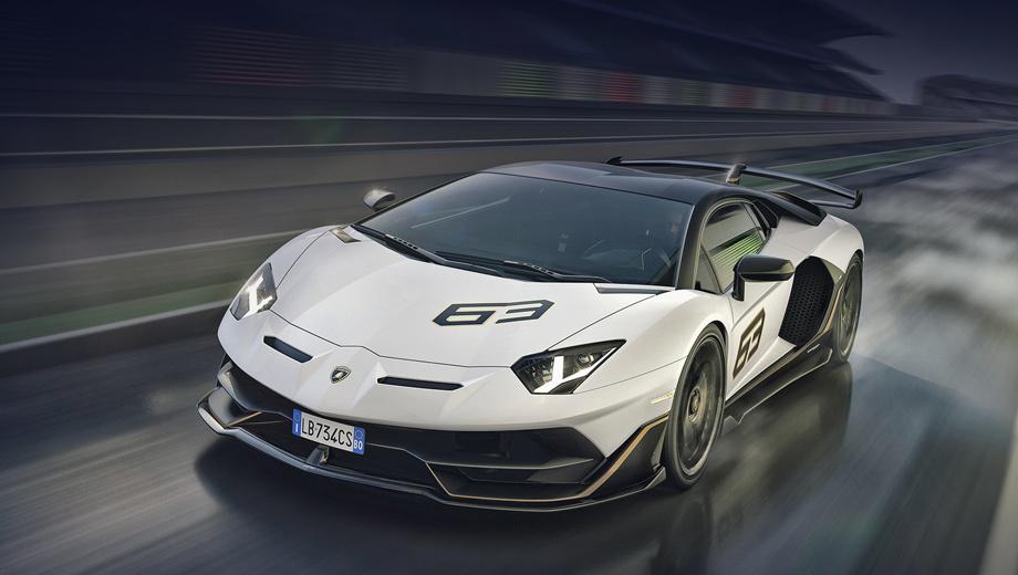 Lamborghini aventador,Lamborghini aventador svj. Lamborghini Aventador SVJ дебютировал на мероприятии The Quail, A Motorsports Gathering в рамках автомобильной недели в Монтерее. Первые клиенты получат купе в начале 2019-го. Всего планируется выпустить 900 машин, включая 63 спецсерии SVJ 63 (названа в честь года основания фирмы Lamborghini).