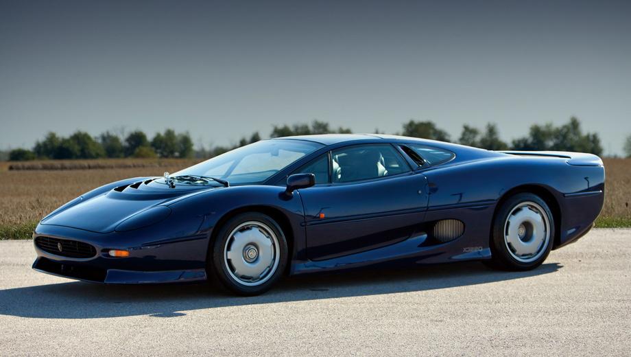 Jaguar j-type,Jaguar f-type. В случае успеха у Ягуара появится второй серийный дорожный среднемоторный автомобиль в истории, после суперкара XJ220 1992 года (на фото), или третий, если посчитать и XJR-15 1990-го, выпущенный тиражом всего в полсотни штук.