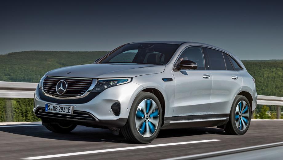 Mercedes eqc. Авторам модели удалось довольно близко подойти к облику концепта Generation EQ, с которого два года назад мы и начали знакомство с EQ-машинами.
