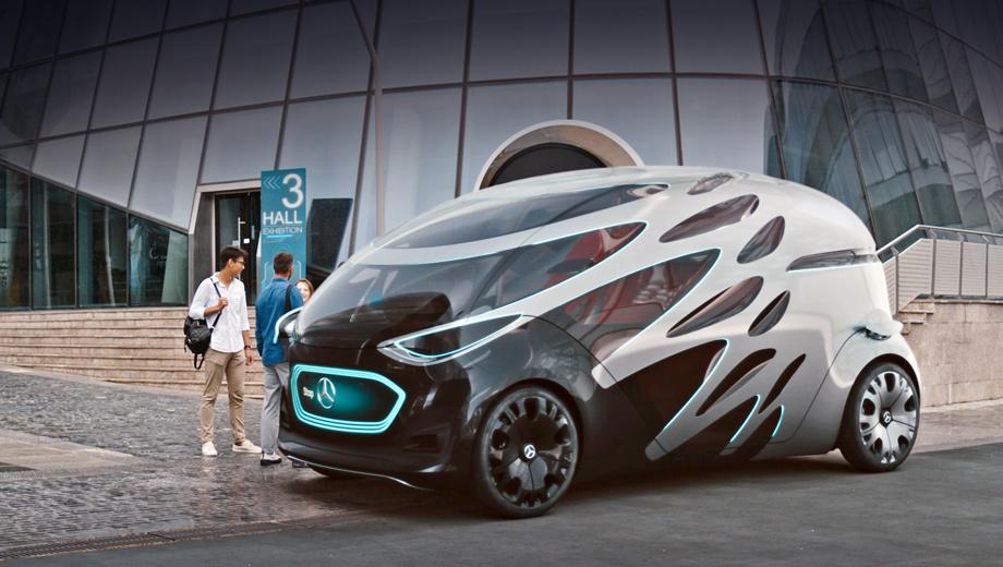 Mercedes vision urbanetic,Mercedes concept. Внешность в серии может быть и не столь экстравагантной, тут главное всё же не дизайн, а техническая основа.