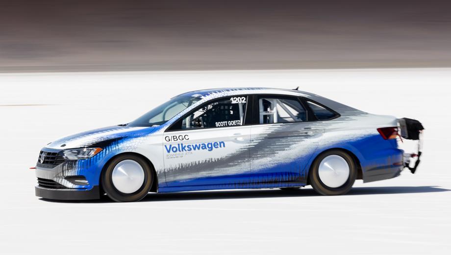 Volkswagen jetta. Новая Jetta после тюнинга установила рекорд в классе G/BGC по версии хронометрической ассоциации Southern California Timing.