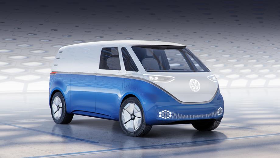 Volkswagen id buzz,Volkswagen id buzz cargo,Volkswagen concept,Volkswagen crafter,Volkswagen caddy,Volkswagen transporter,Volkswagen t6. Коммерческий фургончик стилизован под микроавтобусы VW 1950-х и 1960-х. В серии такой автомобиль не вытеснит Транспортёр или Крафтер, но станет дополнением к ним.