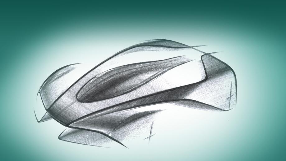 Astonmartin project 003. Это первый официальный эскиз Проекта 003. Кажется очень футуристичным и оторванным от жизни. И всё же британцы делают важное уточнение: эта модель будет дорожной и, по меркам гиперкаров, практичной.