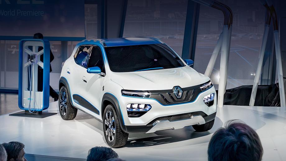 Renault k-ze,Renault concept,Renault kwid. «Группа Renault была пионером и стала европейским лидером в области электромобилей. Теперь мы представляем модель Renault K-ZE — доступный по цене электрический сити-кар, вдохновлённый кроссоверами и сочетающий в себе всё лучшее от группы Renault», — заявил глава альянса Карлос Гон.
