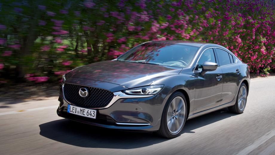 Mazda 6. В Америке турбоверсия развивает 254 силы и разгоняется до 96,5 км/ч за 6,4 с. Европейцам такое не светит, зато у них есть универсал с дизелем Skyactiv-D 2.2 (184 л.с., 445 Н•м) на «механике».