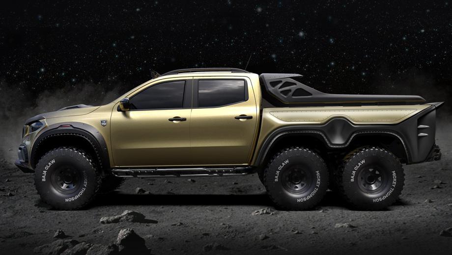 Mercedes x. Трёхосные пикапы что-то зачастили: совсем недавно мы вам рассказывали о проекте под названием Hennessey Goliath 6x6 на основе нового Silverado.