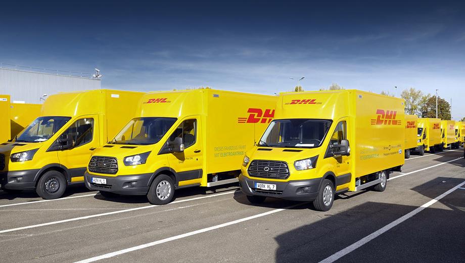Ford transit. Машины предназначены для компании Deutsche Post DHL Group. И первый клиент тут совсем не случайный, Deutsche Post и способствовала созданию автомобиля, фактически это её собственная модель.