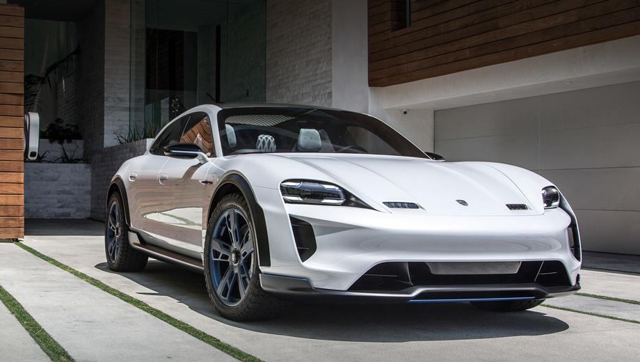 Porsche mission e cross turismo,Porsche taycan. Производитель заявил мощность в 440 кВт (600 л.с.), запас хода в 500 км, разгон до 100 км/ч за 3,5 с, до 200 км/ч — за 12 с. Посредством 800-вольтовой системы батарея за 15 минут заряжается на 80%.