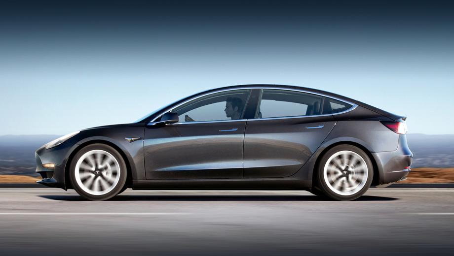 Tesla model 3. Начальная версия седана Tesla Model 3 пробегает на одной зарядке 260 миль (418 км) в американском комбинированном цикле EPA. Разгон с нуля до 60 миль/ч (97 км/ч) у неё занимает 5,6 с.